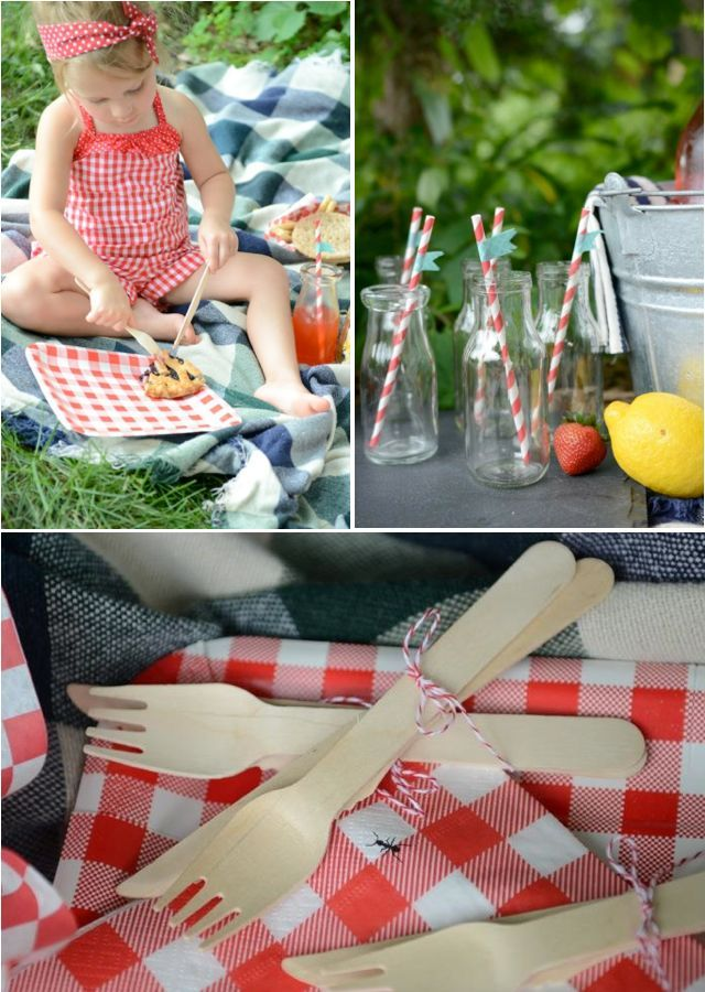 Darling Summer Picnic party with tons of cute ideas! Via KarasPartyIdeas.com - THE place for ALL things PARTY!