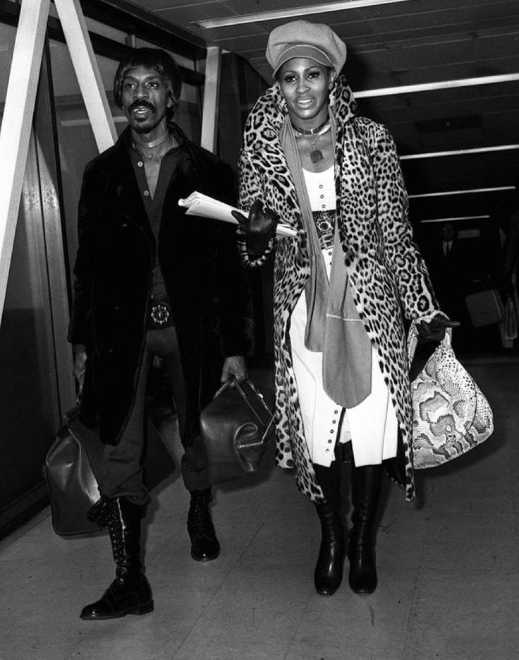 Tina and Ike arriving at London Heathrow 1971