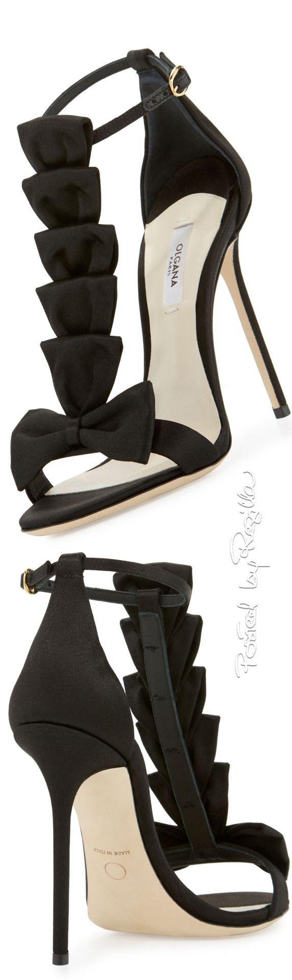 Regilla ⚜ Olgana, La Délicate Bow T-Strap Sandal