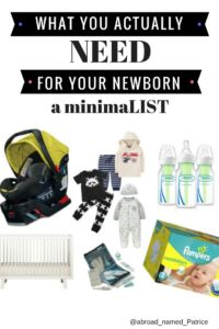 Abroad named Patrice minimaLIST guide to newborn Necessities