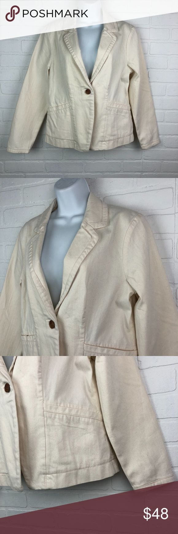 Anthropologie Cartonnier 10 Elbow Patch Jacket Anthropologie Cartonnier 10 Elbow Patch Jacket  Size 10 New with tags Adorable  armpit to armpit: 20 inches length (back neck seam to bottom hem):  22.5 inches sleeve:  23.25 inches 99% cotton 1% spandex made in China  This jacket is everything for Spring and Summer!  I ship fast. Why not create a bundle? Thank you for shopping my closet! Anthropologie Jackets & Coats Blazers