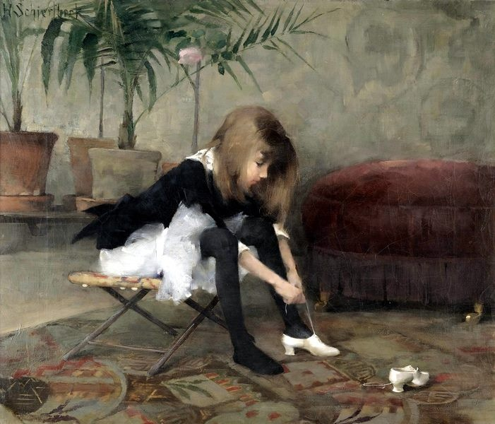 Helene Schjerfbeck: Dancing Shoes (1882).