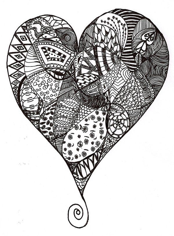 167 best images about Zentangle Hearts on Pinterest | Heart ...
