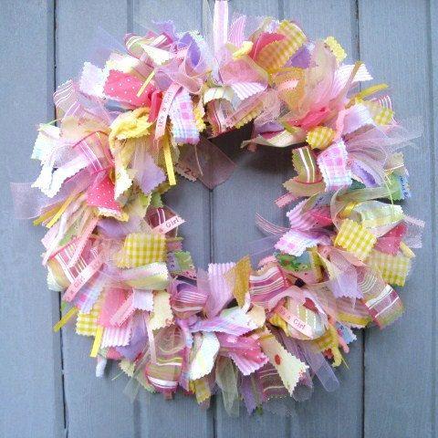 Newborn Baby Girl Wreath, Baby Door Wreath, Baby Shower Wreath, Nursery Decor, Baby Girls Room Decoration, Wreath for Hospital Door, Its A Girl by AWorkofHeartSA, $70.00