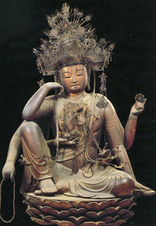 Nyoirin Kannon Bodhisattva seated 如意輪観音菩薩坐像 Heian 平安 era, circa 1150 - Miidera (Shiga prefecture) 三井寺 滋賀県 - Japan