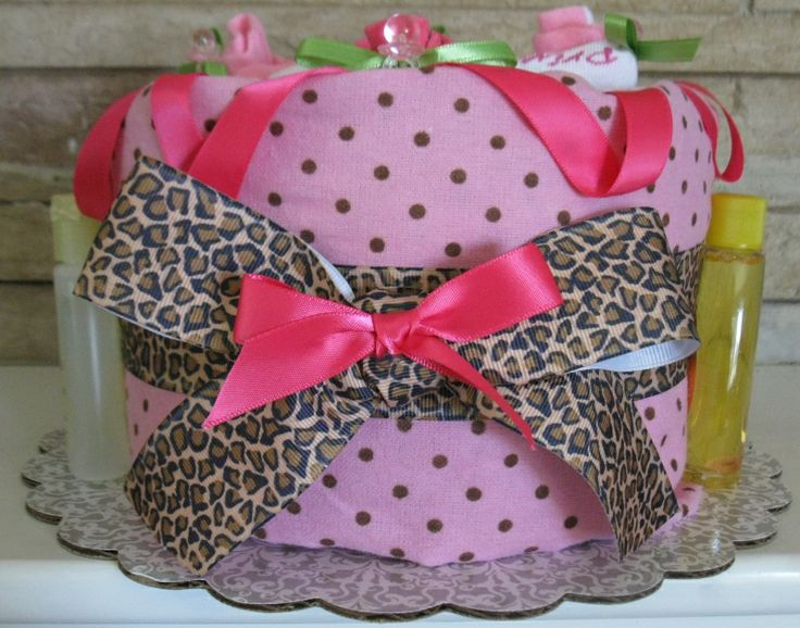 www.rubysdiapercakes.com http://www.rubysdiapercakes.com/item_137/Pink-Couture-Blanket-Diaper-Cake.htm Baby Girl Couture Diaper Cake. Baby girl baby shower leopard print.