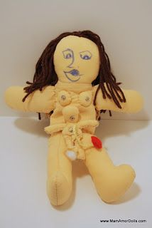 MamAmor Dolls were born by accident! It was while expecting my third child, and while taking a Birth Doula training course, when the trainer showed me a birthi
