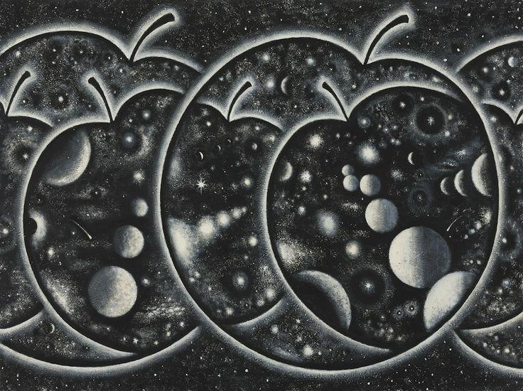 Apple Universe 2011 acrylic on board