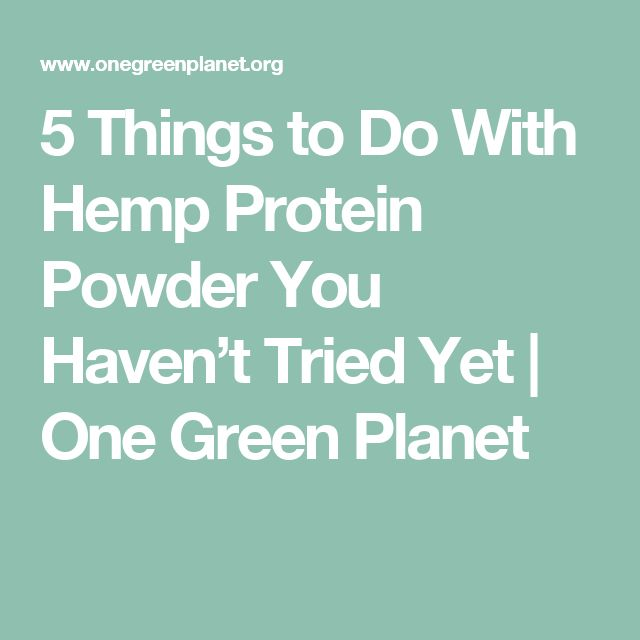 5 Things to Do With Hemp Protein Powder You Haven't Tried Yet | One Green Planet