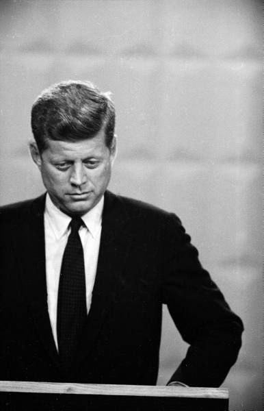 One of his accomplishments would be he was the president that avoided the Cuban missile crisis. He was very careful and cautions when he dealt with this subject that war was avoided.