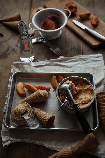 Roasted Peach Sherbet and lighting tips, by julie marie craig