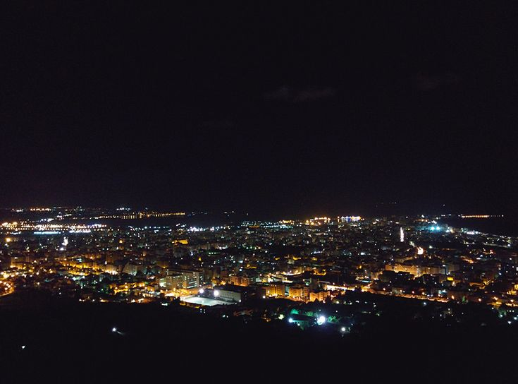Chiara Magi - Sicilian Vibes - Trapani at night, the view from Erice