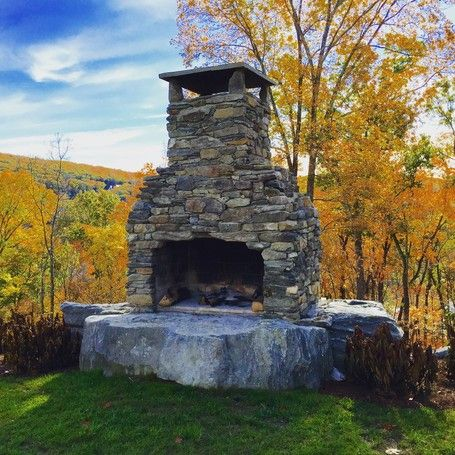 16 Best Inspiring Outdoor Fireplaces Images On Pinterest