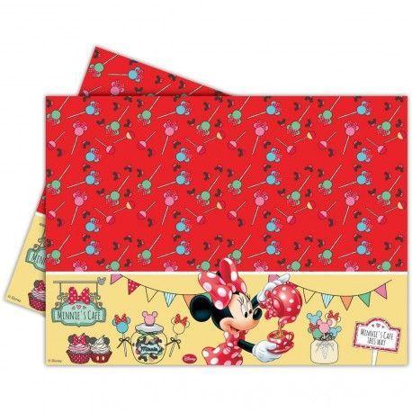 Mantel para cumpleaños de Minnie   en tonos rojos #cumpleañosminnie #cumpleminnie #minniemousebirthday #minniebirthday #fiesatminniemouse #fiestaminnie #minniemouseparty #minnieparty #minnierosa #minnieroja #decoracionfiestaminnie #globosminnie #velaminnie