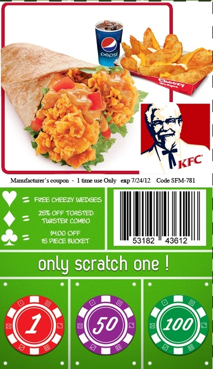 KFC Coupon From Postal Prizes