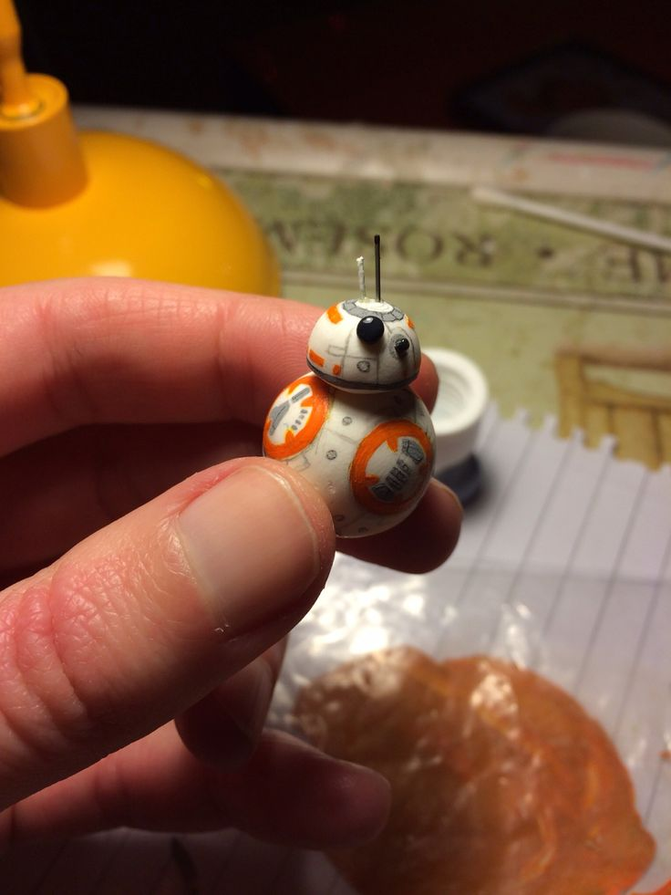 ⛄️ have just been to see Star Wars, don't worry no spoilers here Here is a teeny weeny BB8 - I made him with my usual polymer clay techniques and some tricky...