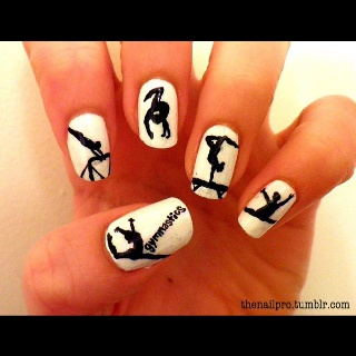 This Pin was discovered by Smeghead52. Discover (and save!) your own Pins on Pinterest.   See more about gymnastics nails and nails.