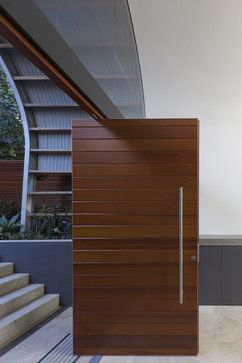 Timber front door - contemporary - entry - sydney - by Rudolfsson Alliker Associates Architects