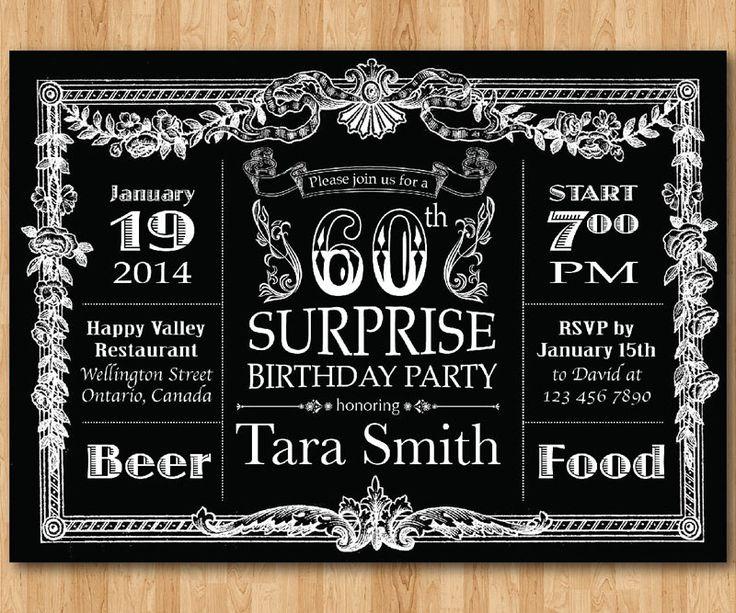 Best 20+ 60th birthday invitations ideas on Pinterest | 70th ...