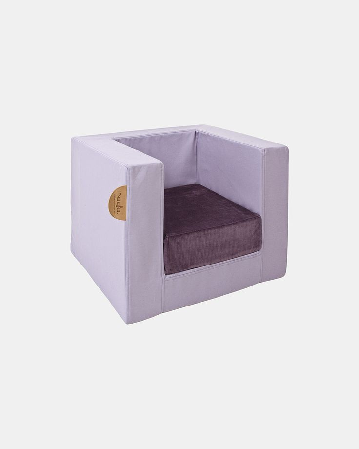 pale lila cube chair