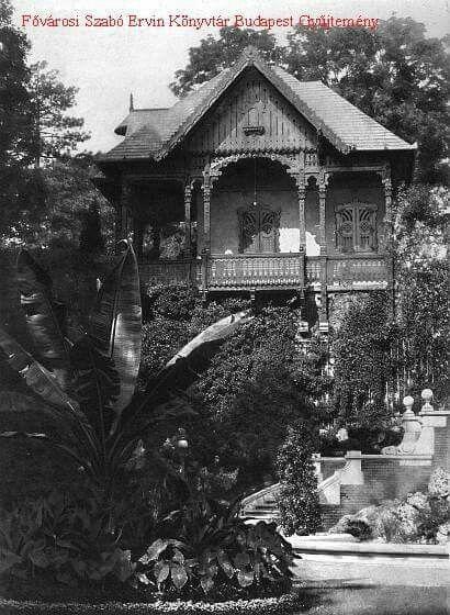 Budai királyi palota,királyi kertben Erzsébet királyné kérésére felépített magyaros stílusú parasztház.