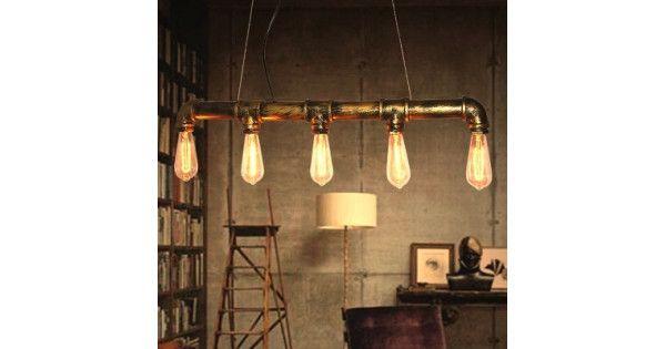 Köp Bar Personlighet Industrial Pipe Edison Glödlampor Hängande Ljus 110-220V | BazaarGadgets.com