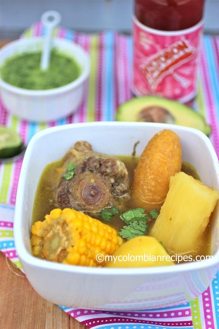 Sancocho de Cola (Oxtail Colombian Soup) mycolombianrecipes.com
