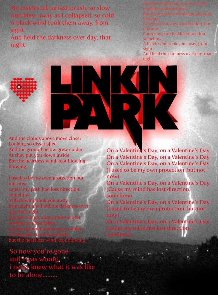 Linkin park valentines lyrics