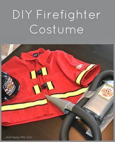 Last minute Firefighter Costume