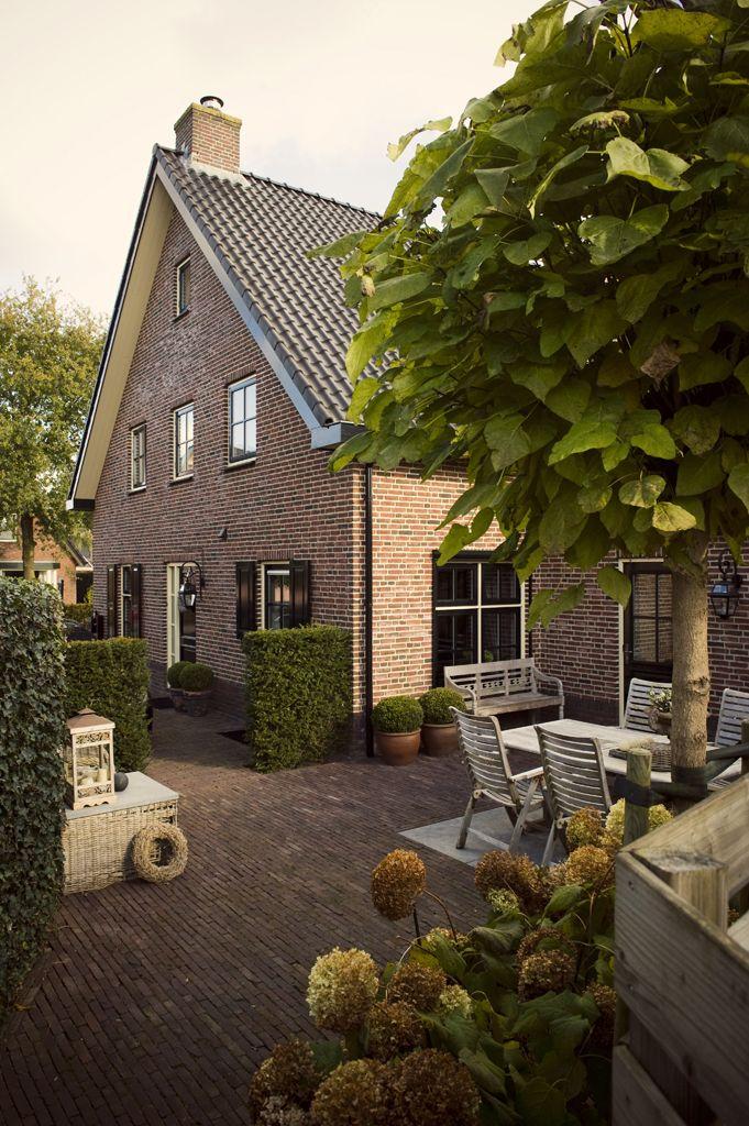 European house and garden