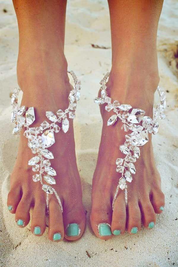 Beach Wedding – Barefoot Sandals!