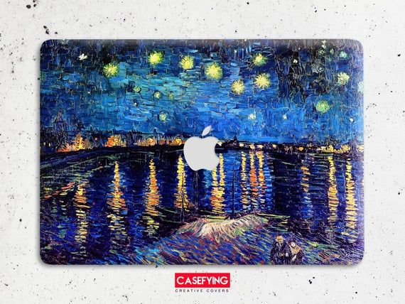 Starry Night over the Rhone Vincent van Gogh print protective hard plastic case for all macbook mode