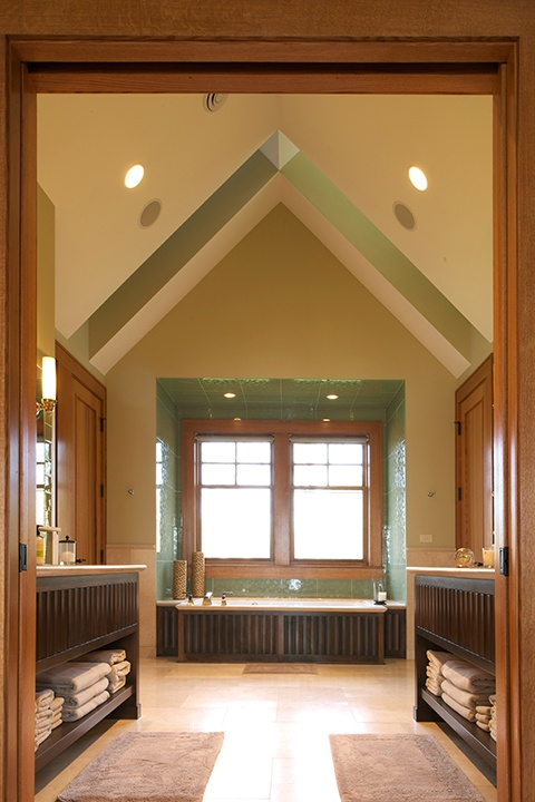 Bathroom with Pinnacle clad windows by Windsor Windows & Doors. www.windsorwindows.com