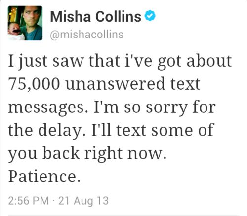 Can we all just take five seconds to acknowledge the fact that Misha STILL hasnt