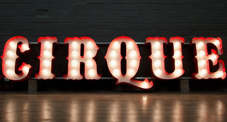 Circus font marquee sign