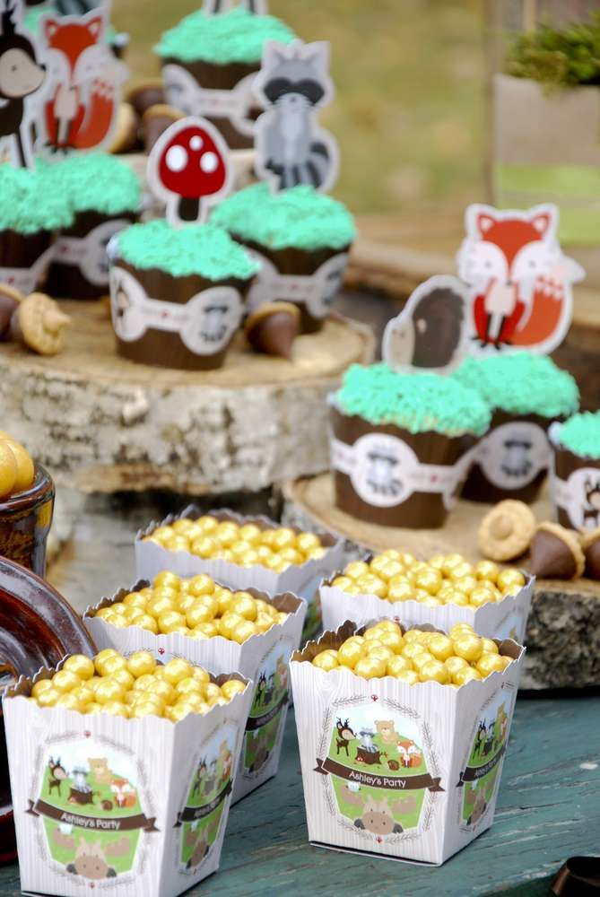 Organizing A Baby Shower Part - 16: Woodland Creatures Baby Shower Party Ideas