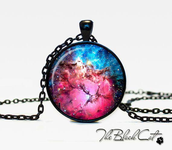 Trifid Nebula pendant  Nebula  jewelry by TheBlackCatPendants, $12.95