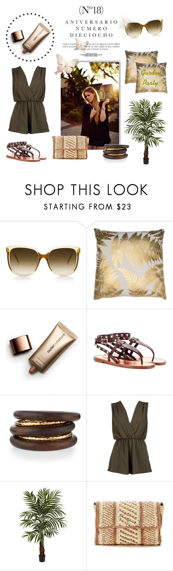 """""""Garden Party"""" by laurenleigh-bee on Polyvore featuring Sinclair, Steven Alan, Nude by Nature, NEST Jewelry, Boohoo, Nearly Natural and Helen Kaminski"""