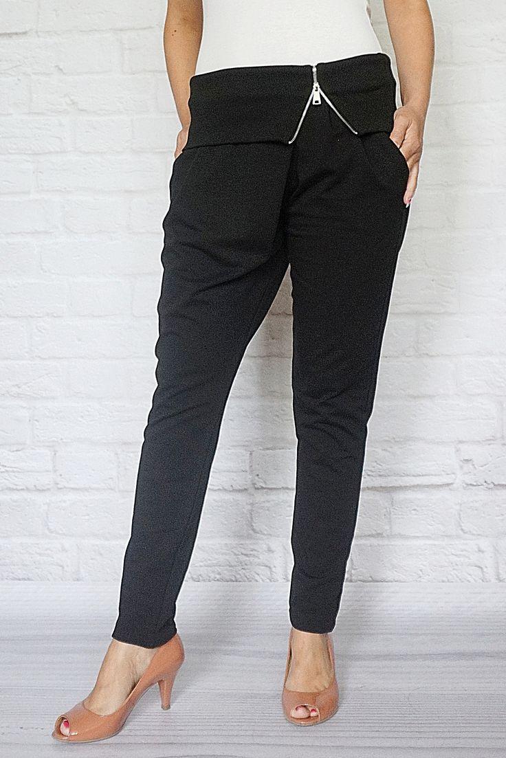 http://modana.com.pl/SPODNIE,p,14144 Modne dresowe spodnie z wywijanym pasem.
