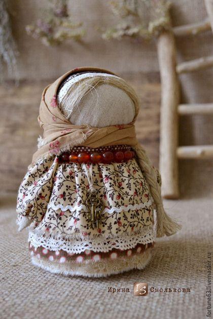 Народные куклы ручной работы. Ярмарка Мастеров - ручная работа. Купить Хозяюшка. Handmade. Бежевый, текстильная кукла, оберег для дома