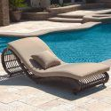 Kauai Outdoor Wicker Pool Chaise Lounge Chair (set Of 2)   Modern  Modern Pool Chairs