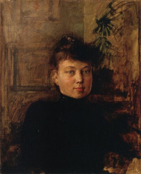 AKSELI GALLEN-KALLELA  Portrait of Mary Slöör (1887-1888)
