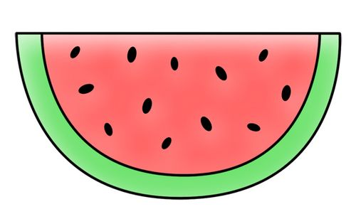 how to draw a realistic watermelon step by step