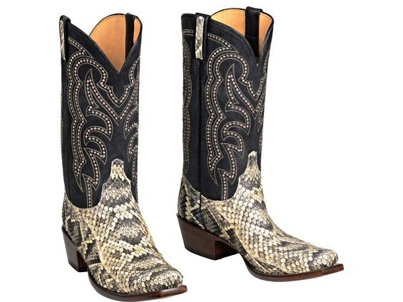 Lucchese Men's Cowboy Boots | Harvey | Rattlesnake in Natural #LuccheseBoots www.lucchese.com