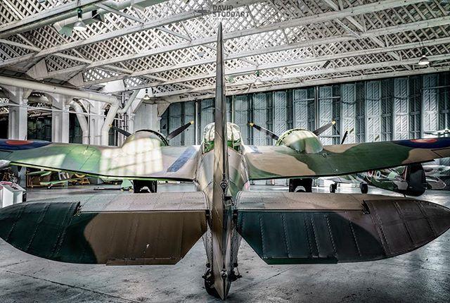 Bristol Blenheim Mk IF L6739 rear view in the Hangar at Duxford Winter 2017. #warbird #warbirds #warplane #ww2 #ww2planes #ww2history #wwiiaviation #secondworldwar #bremont #aircraftrestorationcompany #militaryaviation #raf #battleofbritain #dunkirk #sonya7riii #duxfordimperialwarmuseum #planesofinstagram #aircraftspotters #aircraftphotography