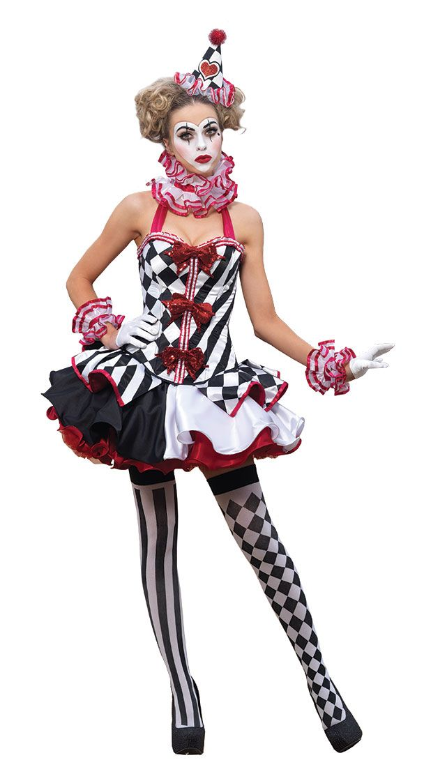 adult jester costume premier sexy harlequin clown costume sexy costumes halloweenie. Black Bedroom Furniture Sets. Home Design Ideas