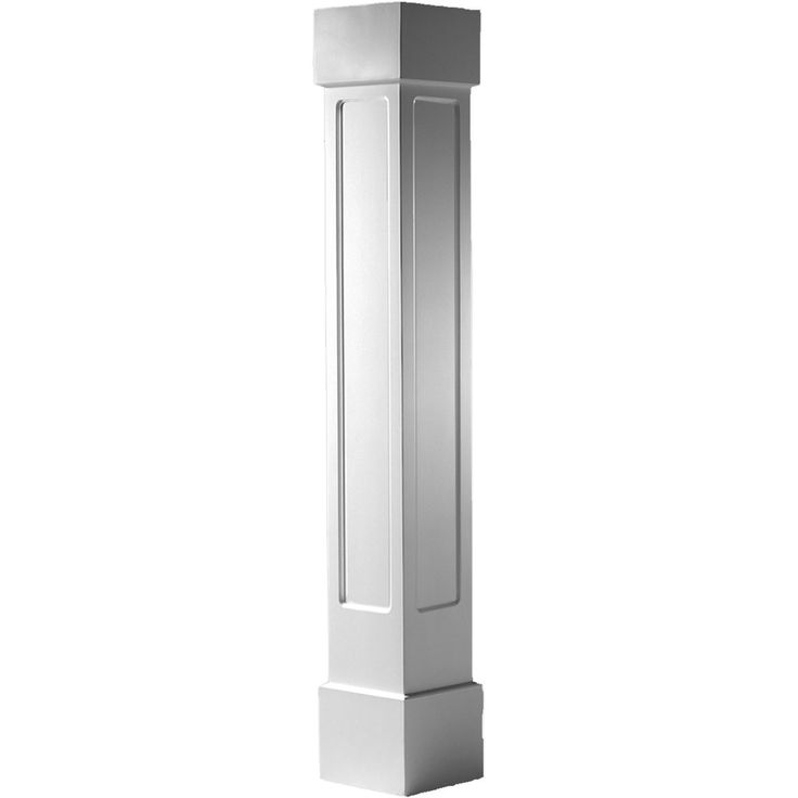 Craftsman classic square non tapered recessed panel column for Tapered columns