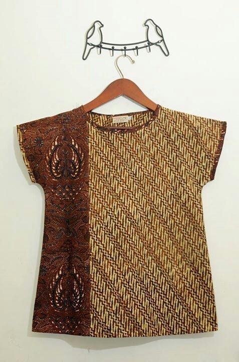 Beautiful brown batik top ML