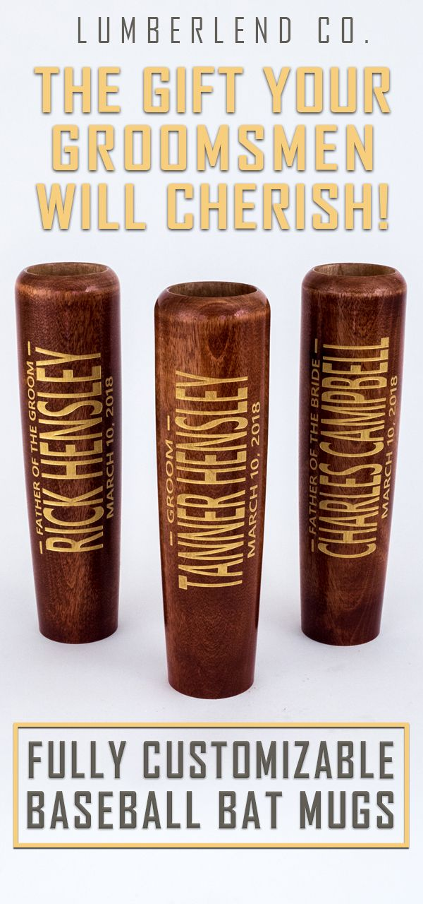 Bat Mugs are the perfect gift for groomsmen, bridesmaids, and even ushers.