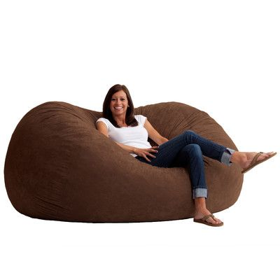 Fuf Bean Bag Chair Upholstery: Comfort Suede Espresso - http://delanico.com/bean-bag-chairs/fuf-bean-bag-chair-upholstery-comfort-suede-espresso-655362850/